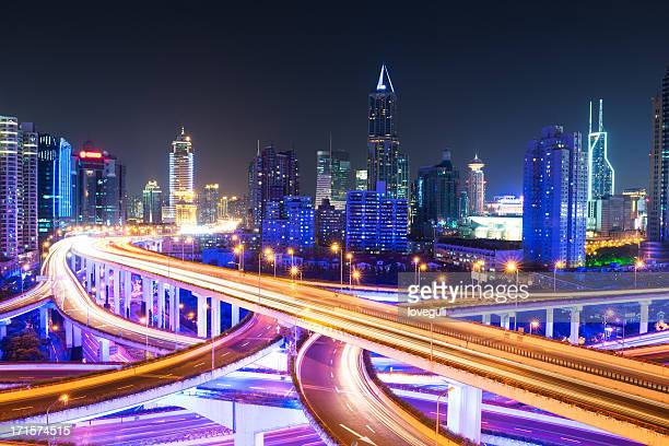 Megacity Highway in shanghai