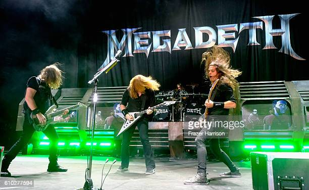 Megadeath perform at Ozzfest at the Manuel Amphitheater on September 24 2016 in Los Angeles California