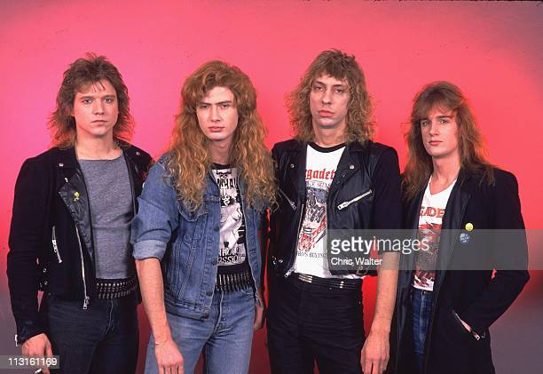 Megadeth 1986 Chris Poland Dave Mustaine Gar Samuelson David Ellefson