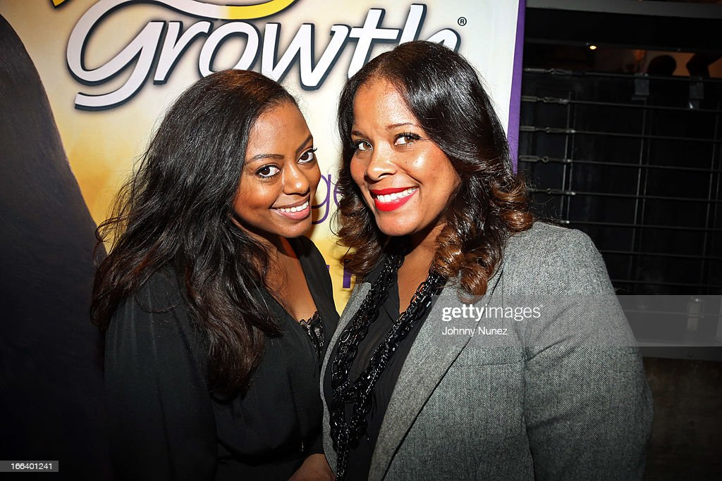 MegaGrowth relaunch event planners Bria Bryant and Stacey Lee attend the relaunch of MegaGrowth at 'The Mane Event' at King Plow Arts Center on April 11, 2013, in Atlanta, Georgia.