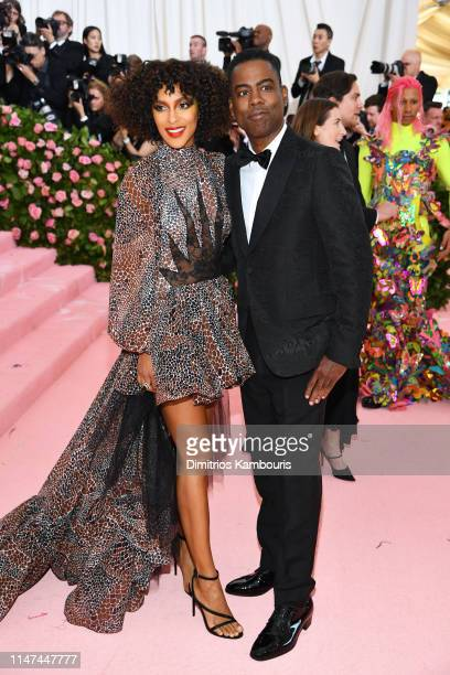 Megalyn Echikunwoke and Chris Rock attend The 2019 Met Gala Celebrating Camp Notes on Fashion at Metropolitan Museum of Art on May 06 2019 in New...