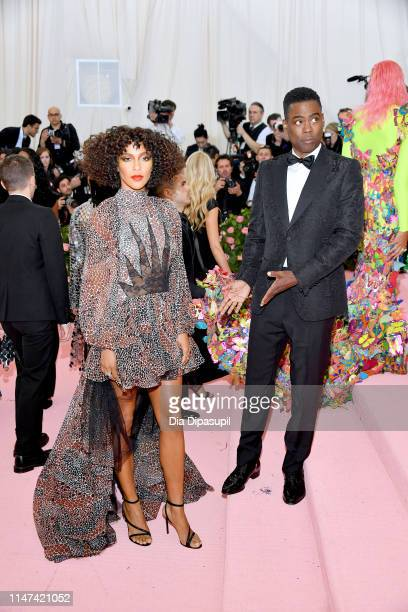 Megalyn Echikunwoke and Chris Rock attends The 2019 Met Gala Celebrating Camp: Notes on Fashion at Metropolitan Museum of Art on May 06, 2019 in New...