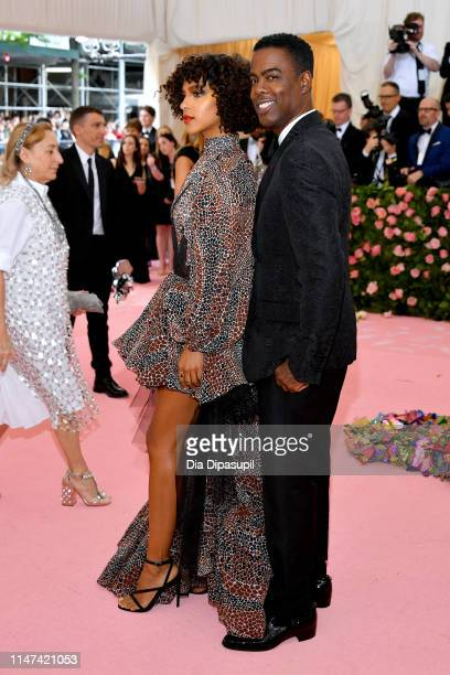Megalyn Echikunwoke and Chris Rock attends The 2019 Met Gala Celebrating Camp Notes on Fashion at Metropolitan Museum of Art on May 06 2019 in New...