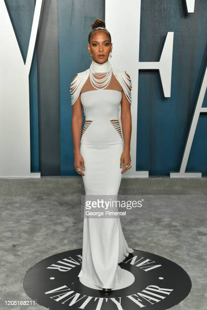 Megalyn Echikunwoke attends the 2020 Vanity Fair Oscar party hosted by Radhika Jones at Wallis Annenberg Center for the Performing Arts on February...