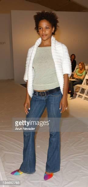 Megalyn Echikunwoke during MercedesBenz Fall 2005 LA Fashion Week at Smashbox Studios Rebecca Beeson Front Row at Smashbox Studios in Culver City...