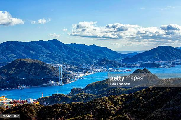 megami bridge - nagasaki prefecture stock pictures, royalty-free photos & images