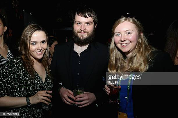 Megan Abel Brendan Hubbard Emily Herald attends the Filmmaker Industry Party during the 2013 Tribeca Film Festival on April 25 2013 in New York City