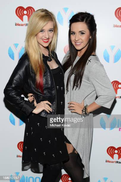 Megan and Liz attend the Y100's Jingle Ball 2012 at the BBT Center on December 8 2012 in Miami