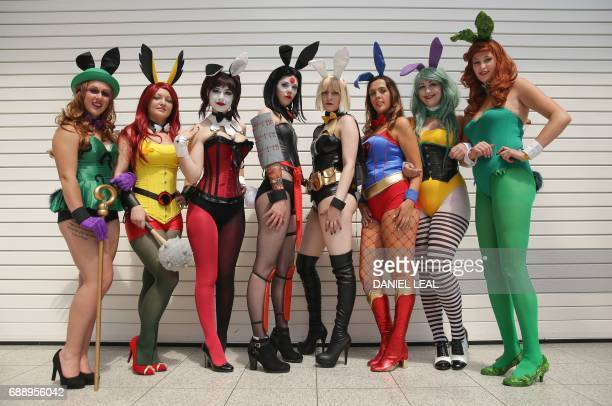 Megan as 'Riddler' Amberas 'Hawkgirl' Anastasia as 'Harley Quinn' Jadene as 'Katana Katie as 'Batgirl' Rebecca as 'Supergirl' Chloe as 'Joker' and...