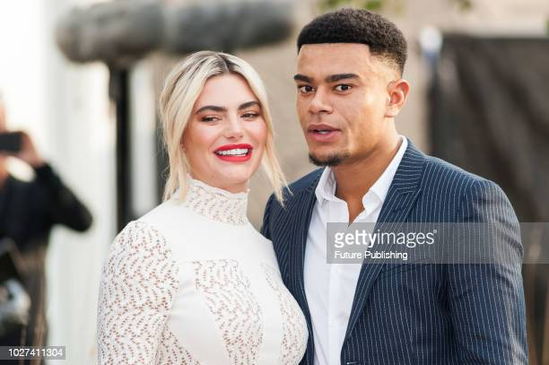 Megan Barton Hanson and Wes Nelson attend the UK film premiere of 'The House with a Clock in Its Walls' at Westfield, White City in London. September...