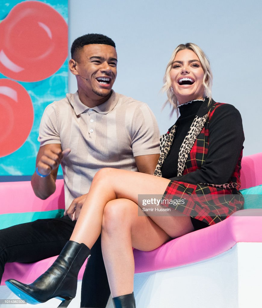 Megan Barton Hanson and Wes Nelson during the 'Love Island Live' photocall at ICC Auditorium on August 10, 2018 in London, England.
