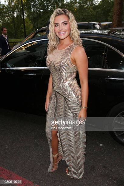 Megan Barton Hanson arrives for The TV Choice Awards at the Dorchester Hotel on September 10 2018 in London England