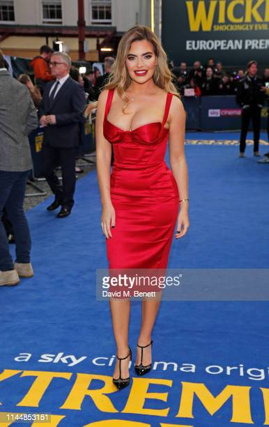 """Megan Barton Hanson attends the European Premiere of """"Extremely Wicked, Shockingly Evil And Vile"""" at The Curzon Mayfair on April 24, 2019 in London,..."""