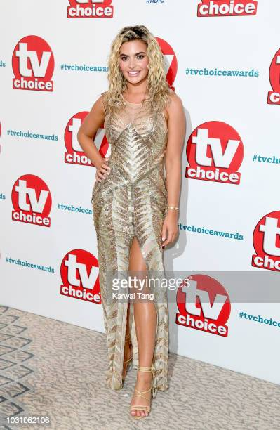 Megan Barton Hanson attends the TV Choice Awards at The Dorchester on September 10 2018 in London England