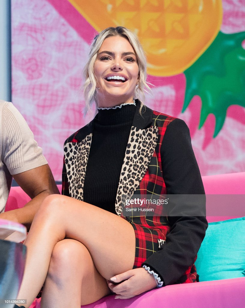 Megan Barton Hanson during the 'Love Island Live' photocall at ICC Auditorium on August 10, 2018 in London, England.