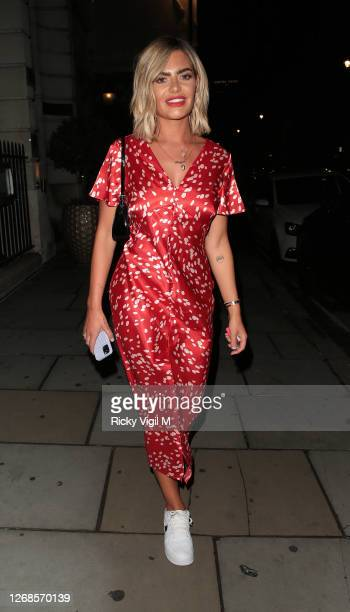 Megan Barton Hanson seen on a night out at Soho Wala on August 25 2020 in London England