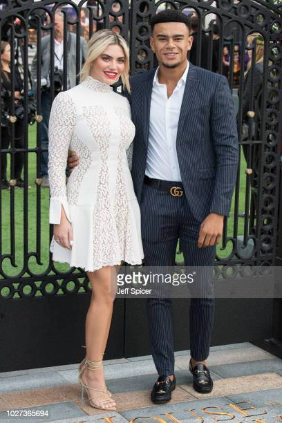 """Megan Barton-Hanson and Wes Nelson attend the World Premiere of """"The House With The Clock In Its Walls"""" at Westfield White City on September 5, 2018..."""