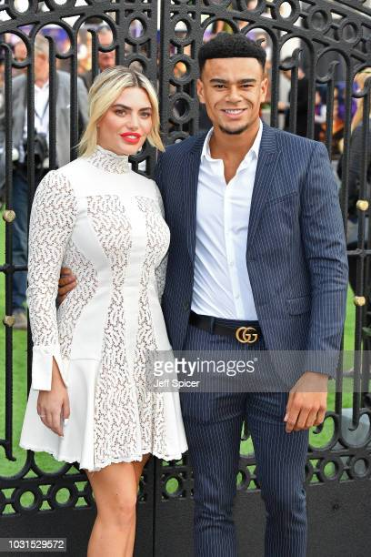 """Megan Barton-Hanson and Wes Nelson attend the World Premiere of """"The House With The Clock In Its Walls"""" at Westfield White City on September 05, 2018..."""