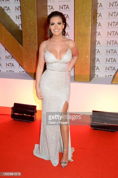 Megan Barton-Hanson attends the National Television Awards 2020 at The O2 Arena on January 28, 2020 in London, England.