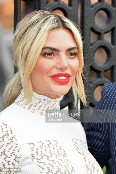"""Megan Barton-Hanson attends the World Premiere of """"The House With The Clock In Its Walls"""" at Westfield White City on September 05, 2018 in London,..."""