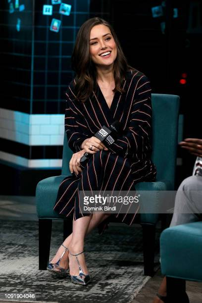 Megan Boone attends the Build Series to discuss 'The Blacklist' at Build Studio on January 09 2019 in New York City