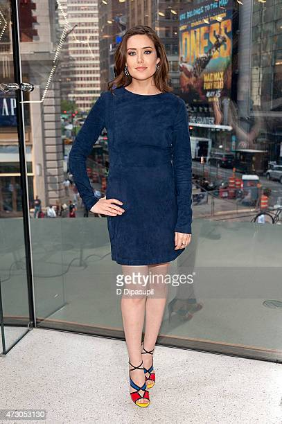 Megan Boone visits Extra at their New York studios at HM in Times Square on May 12 2015 in New York City