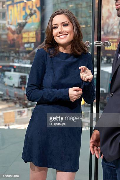 Megan Boone visits 'Extra' at their New York studios at HM in Times Square on May 12 2015 in New York City