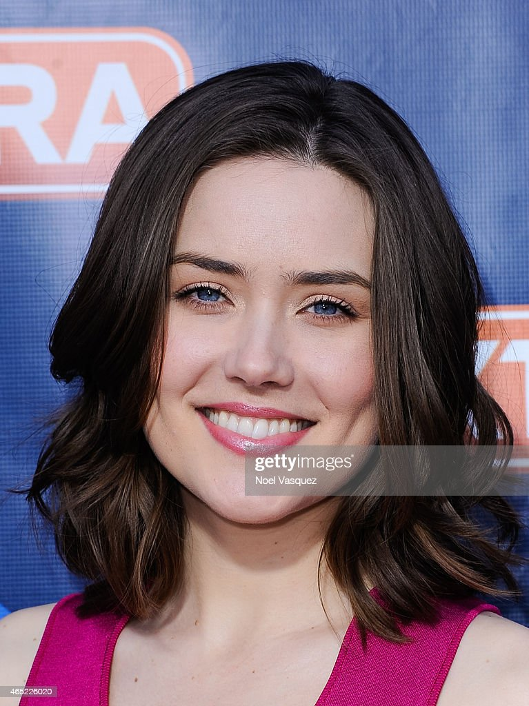 Megan Boone visits 'Extra' at Universal Studios Hollywood on March 4, 2015 in Universal City, California.