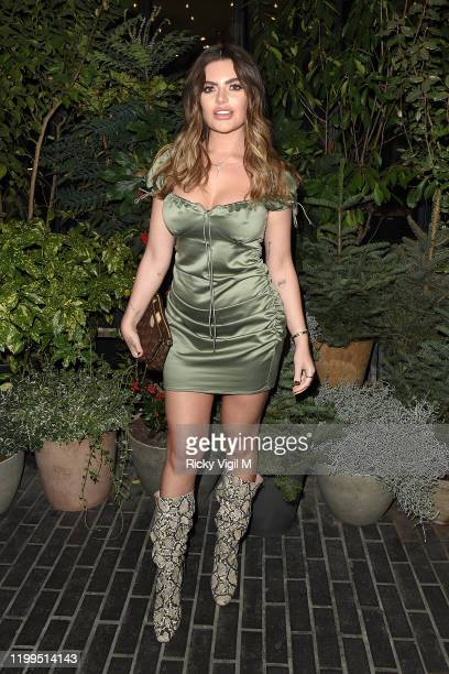 Megan Burton Hanson seen attending Fenty Beauty - launch party on January 14, 2020 in London, England.