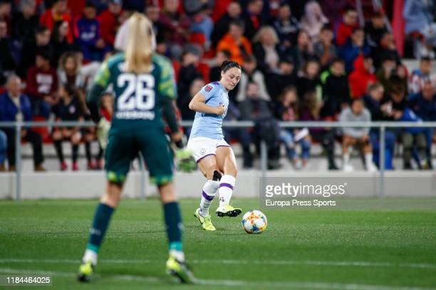 Megan Campbell player of Manchester City from Ireland in action during the Women's Champions League football match Round of 16 2nd Leg played between...