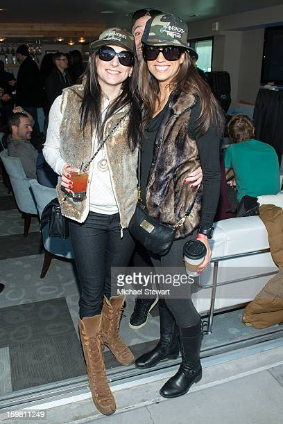 Megan Carroll and Anna Brown attend Paige Hospitality Game Watch at Sky Bar on January 20 2013 in Park City Utah