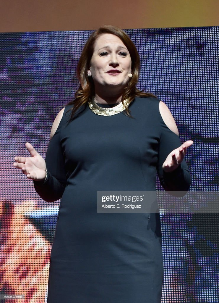 Megan Colligan, President of Worldwide Distribution and Marketing at Paramound Pictures at CinemaCon 2017 Paramount Pictures Presentation Highlighting Its Summer of 2017 and Beyond at The Colosseum at Caesars Palace during CinemaCon, the official convention of the National Association of Theatre Owners, on March 28, 2017 in Las Vegas, Nevada.