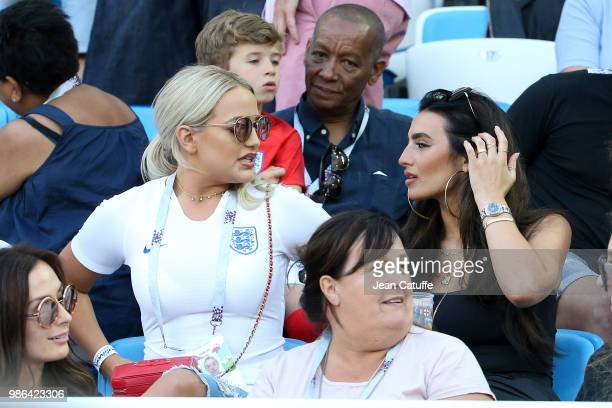 Megan Davison, girlfriend of Jordan Pickford of England, Annie Kilner, girlfriend of Kyle Walker during the 2018 FIFA World Cup Russia group G match...