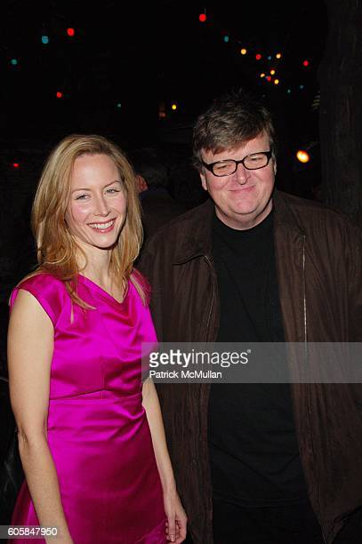 Megan Dodds and Michael Moore attend My Name Is Rachel Corrie opening night AfterParty at B Bar NYC on October 15 2006