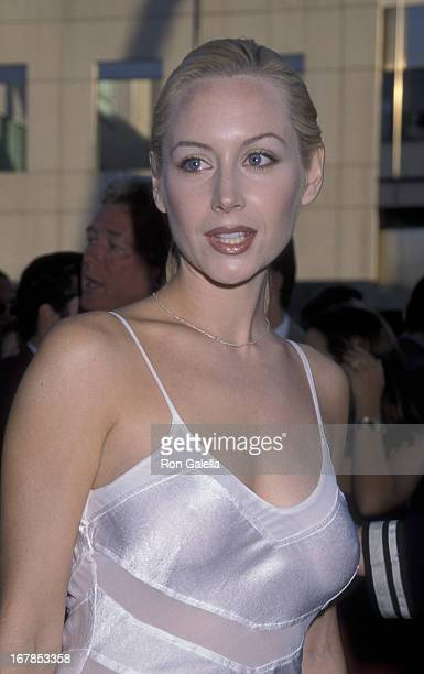 Megan Dodds attends the world premiere of Ever After on July 29 1998 at the Academy Theater in Beverly Hills California