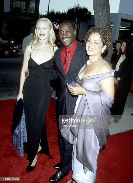 Megan Dodds Don Cheadle and Bridgid Coulter during Premiere of HBO's The Rat Pack at Academy Theater in Beverly Hills California United States