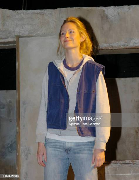 Megan Dodds during Opening Night of My Name is Rachel Corrie Curtain Call at The Minetta Lane Theatre in New York City New York United States
