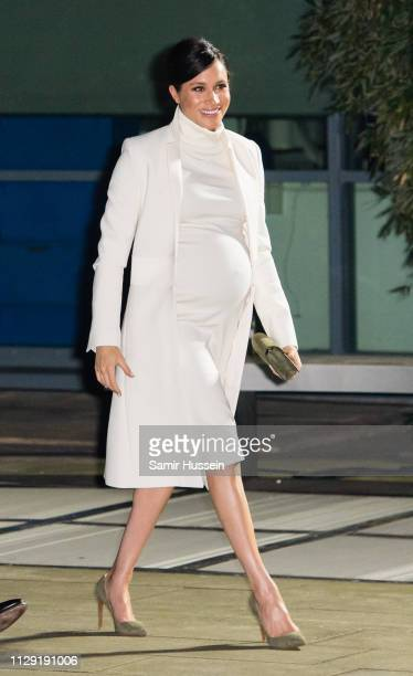Megan Duchess of Sussex attends a gala performance of ^The Wider Earth at Natural History Museum on February 12 2019 in London England