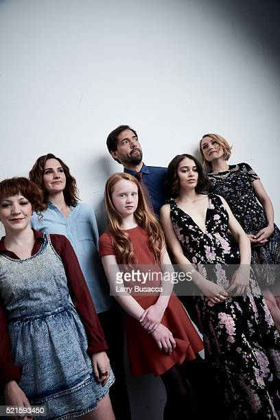 Megan Duffy Ruth Bradley Isolt McCaffrey Andrew Bowen Madeleine Coghlan and Clare Grant from Holidays pose at the Tribeca Film Festival Getty Images...
