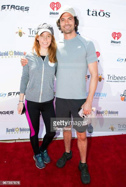 Megan Easton and Daniel Hall attend the 8th Annual Pedal On The Pier Fundraiser at Santa Monica Pier on June 3 2018 in Santa Monica California
