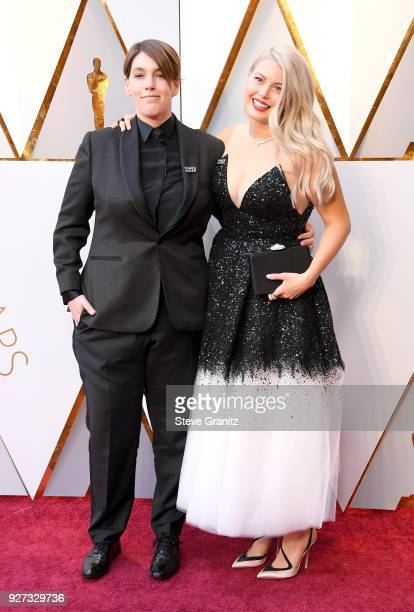 Megan Ellison and Drew Denny attends the 90th Annual Academy Awards at Hollywood Highland Center on March 4 2018 in Hollywood California