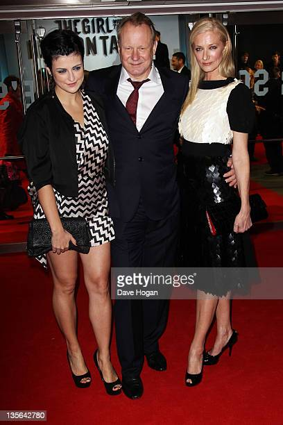 Megan Everett Stellan Skarsgard and Joely Richardson attend the world premiere of The Girl With The Dragon Tattoo at The Odeon Leicester Square on...