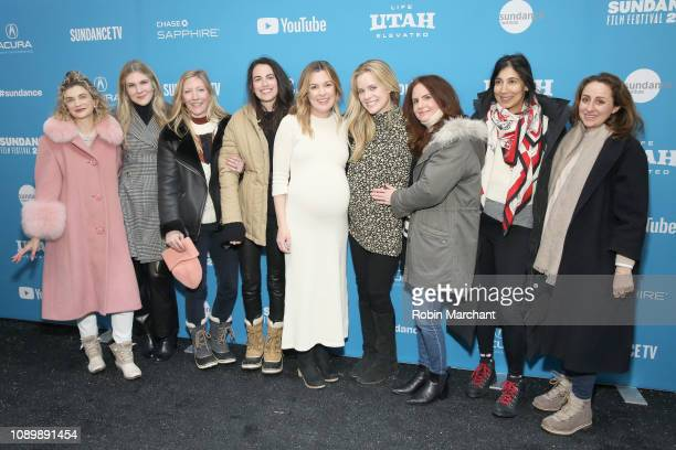 Megan Ferguson Lily Rabe Anna Margaret Hollyman and cast and crew attend the 'Sister Aimee' Premiere during the 2019 Sundance Film Festival at...