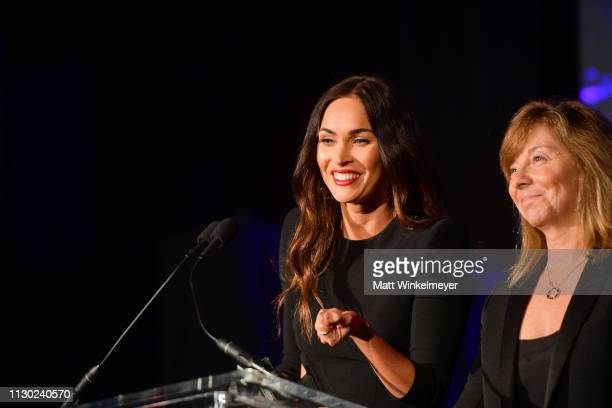 Megan Fox and Anna Behlmer attend the 55th Annual Cinema Audio Society Awards at InterContinental Los Angeles Downtown on February 16 2019 in Los...