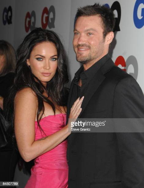 Megan Fox and Brian Austin Green arrives for GQ magazine's Man of the Year party at the Chateau Marmont on November 18 2008 in West Hollywood...