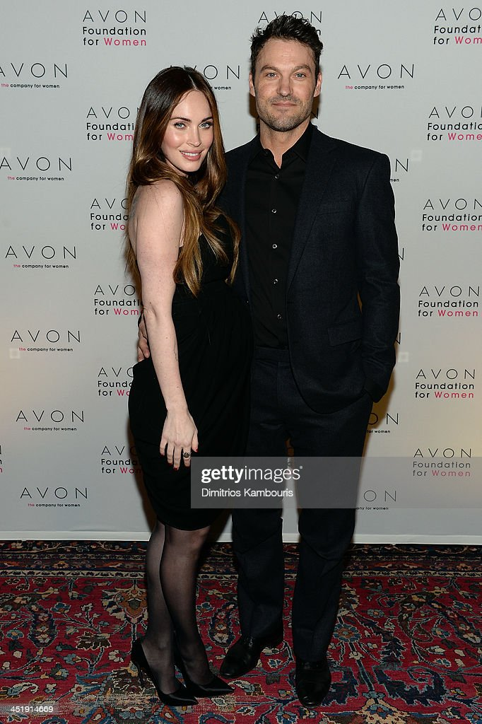 Megan Fox and Brian Austin Green at The Morgan Library & Museum in New York City at the Avon Foundation launch of its #SeeTheSigns of Domestic Violence global social media campaign.