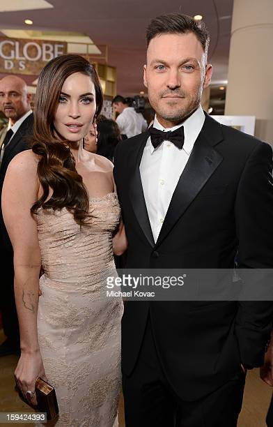 Megan Fox and Brian Austin Green attend Moet Chandon At The 70th Annual Golden Globe Awards Red Carpet at The Beverly Hilton Hotel on January 13 2013...
