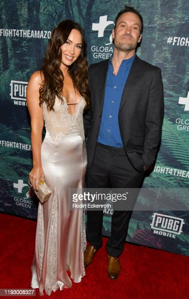 Megan Fox and Brian Austin Green attend the PUBG Mobile's #FIGHT4THEAMAZON Event at Avalon Hollywood on December 09 2019 in Los Angeles California