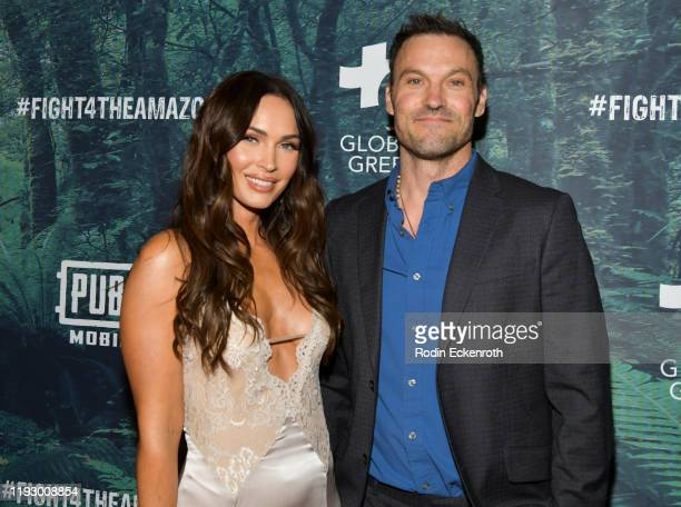 Megan Fox and Brian Austin Green attend the PUBG Mobile's #FIGHT4THEAMAZON Event at Avalon Hollywood on December 09, 2019 in Los Angeles, California.