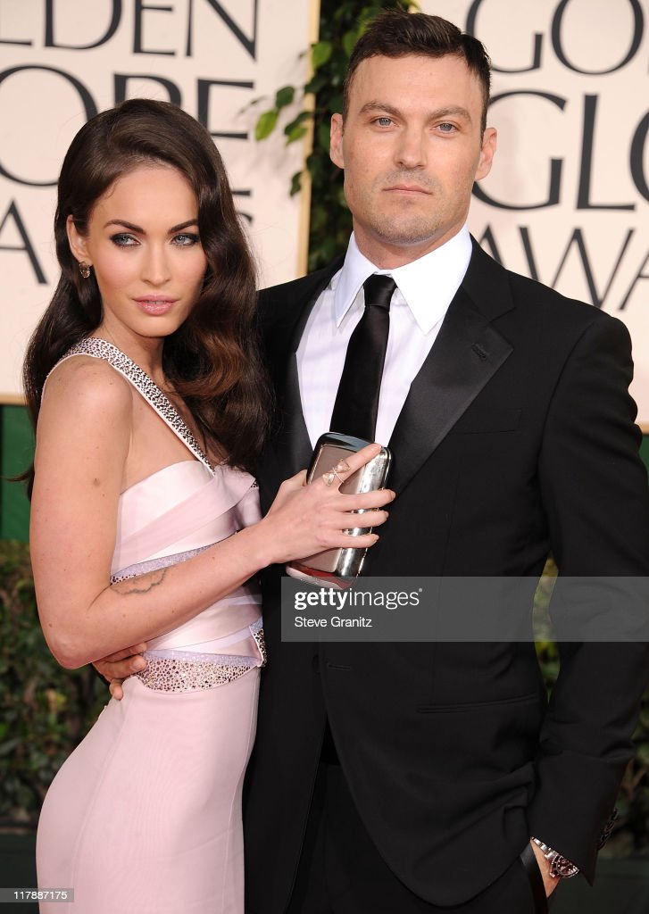 Megan Fox and Brian Austin Green attends the 68th Annual Golden Globe Awards at The Beverly Hilton hotel on January 16, 2011 in Beverly Hills, California.